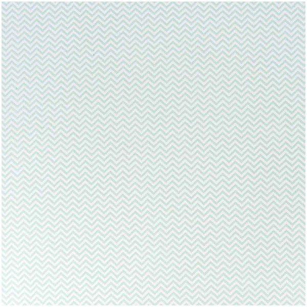Rico Design Stoff Zickzack weiß-mint 140cm