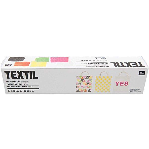 Rico Design Textilfarben neon 6x40ml