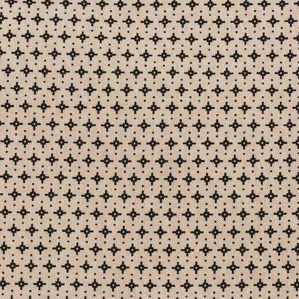 Rico Design Stoff grafische Sterne natur-schwarz 50x70cm
