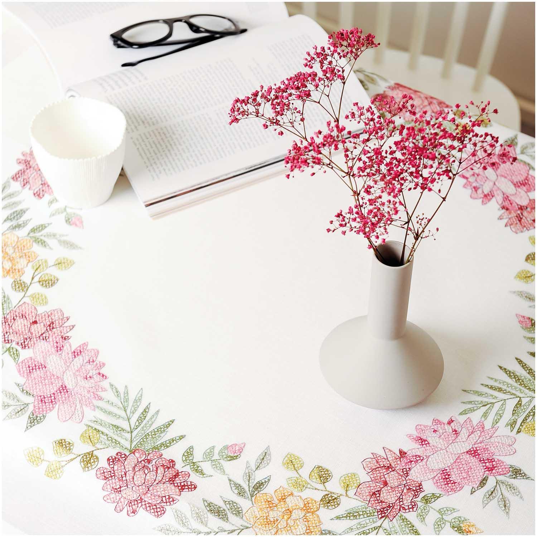 Rico Design Stickpackung Decke Chrysanthemen 90x90cm ...