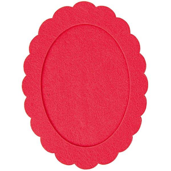 Rico Design Filzrahmen oval azalee 15x20cm