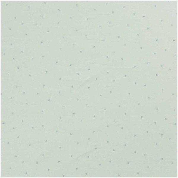 Rico Design Druckstoff Hygge Punkte mint-metallic 50x140cm