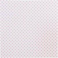 Rico Design Stoff weiß-pinke Pünktchen 160cm