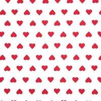 Rico Design Stoff Herzen weiß-rot 50x160cm