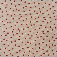 Rico Design Stoff Punkte natur-rot 50x140cm