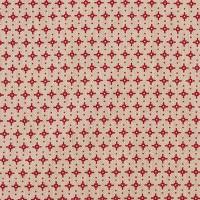 Rico Design Stoff grafische Sterne natur-rot 50x70cm