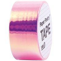 Paper Poetry Mirror Rainbow Tape pink 19mm 5m