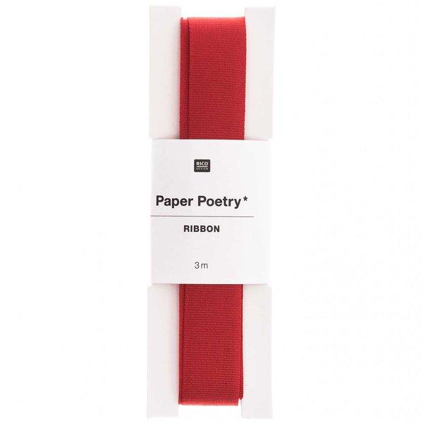 Paper Poetry Taftband rot 16mm 3m