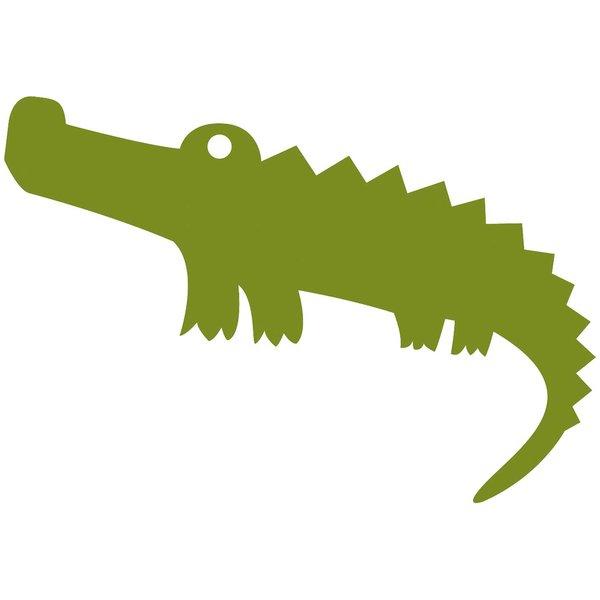 Rico Design Appliqué Krokodil grün 9x4cm