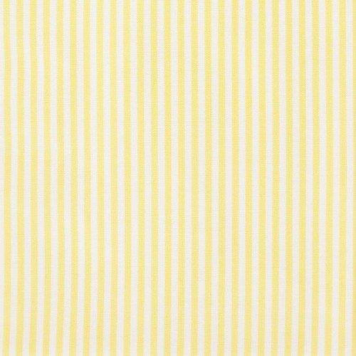 Rico Design Stoff Streifen gelb-weiß 50x160cm