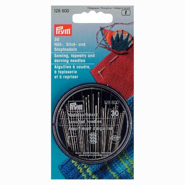 Prym Näh-,Stick- und Stopfnadeln mit Nadeldose 30 Stück