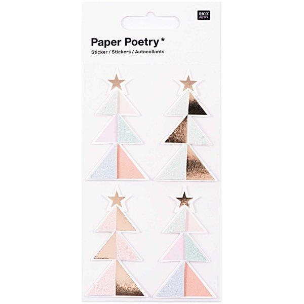 Paper Poetry 3D Sticker Tannen pastell Hot Foil