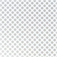 Rico Design Stoff große Punkte weiß-grau 50x140cm
