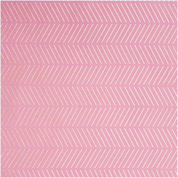 Rico Design Druckstoff Einhorn rosa 50x140cm