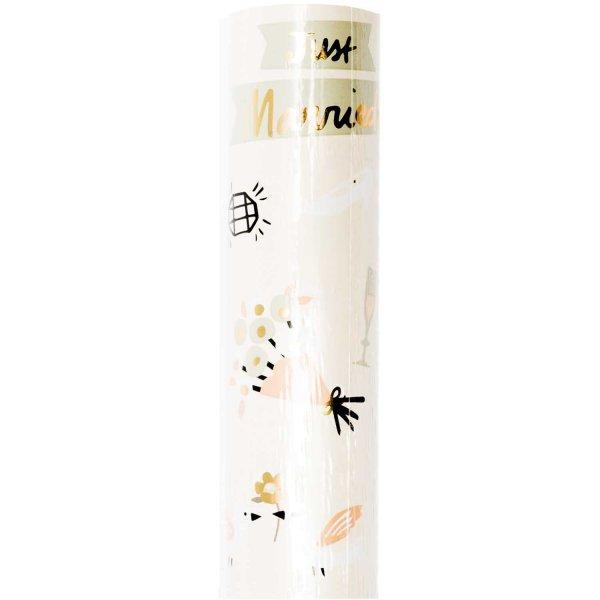 Paper Poetry Geschenkpapier Just Married 70cm 2m Hot Foil