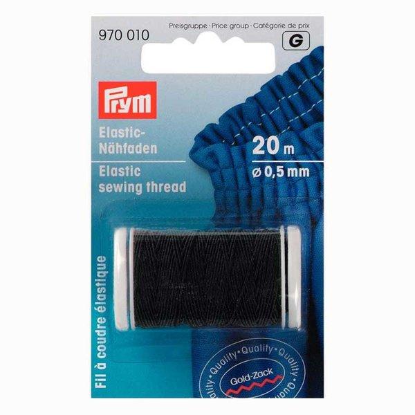 Prym Elastic Nähfaden schwarz 0,5mm 20m