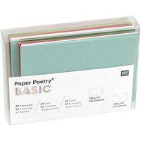 Paper Poetry Kartenset Basic grün-rot C7 36teilig