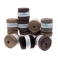 noodles Textilgarn Brauntöne ca. 500-700g