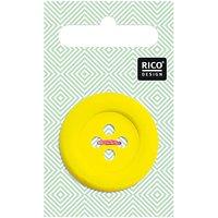 Rico Design Knopf gelb matt 3,4cm
