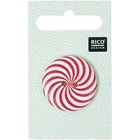 Rico Design Knopf mit Farbstrudel rot 3cm