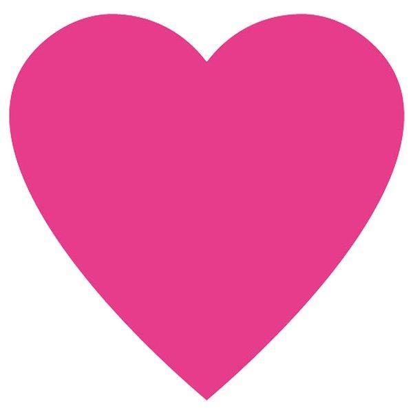 Rico Design Appliqué Herz pink 8x7cm