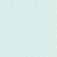 Rico Design Stoff Sterne mint-weiß 50x140cm