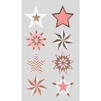 Paper Poetry Sticker Sterne rot-gold 4 Bogen