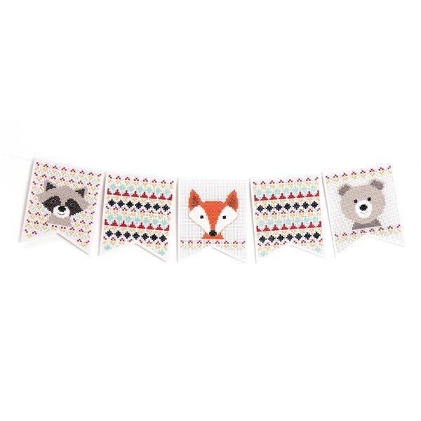 Rico Design Stickpackung Wimpel Tiere 5 Stück