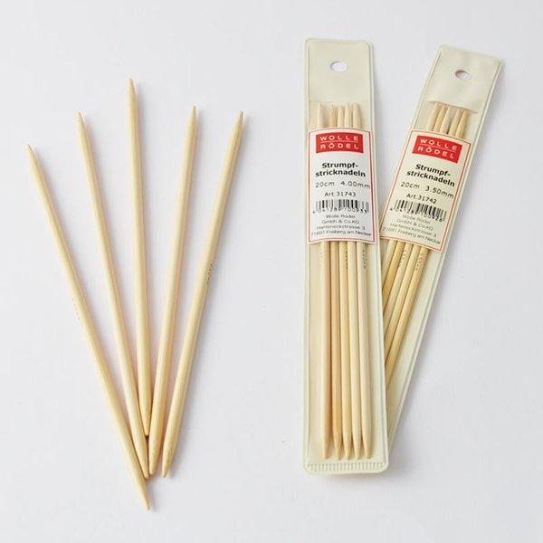 Wolle Rödel Strumpfstricknadel 20cm Bambus
