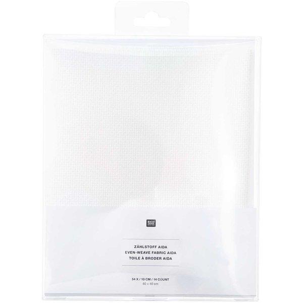 Rico Design Aida weiß 40x40cm zum Besticken