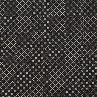 Rico Design Stoff Rauten schwarz-natur 50x140cm