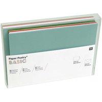 Paper Poetry Kartenset Basic grün-rot B6 36teilig