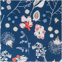 Rico Design Stoff Blumen und Gräser blau 50x140cm