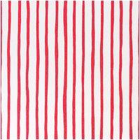 Rico Design Stoff Streifen weiß-rot 50x160cm