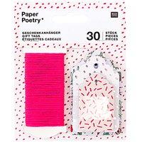Paper Poetry Geschenkanhänger Hygge Flowers 30 Stück