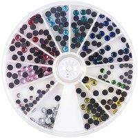 Jewellery Made by Me Strasssteine mehrfarbig 4mm zum Aufbügeln