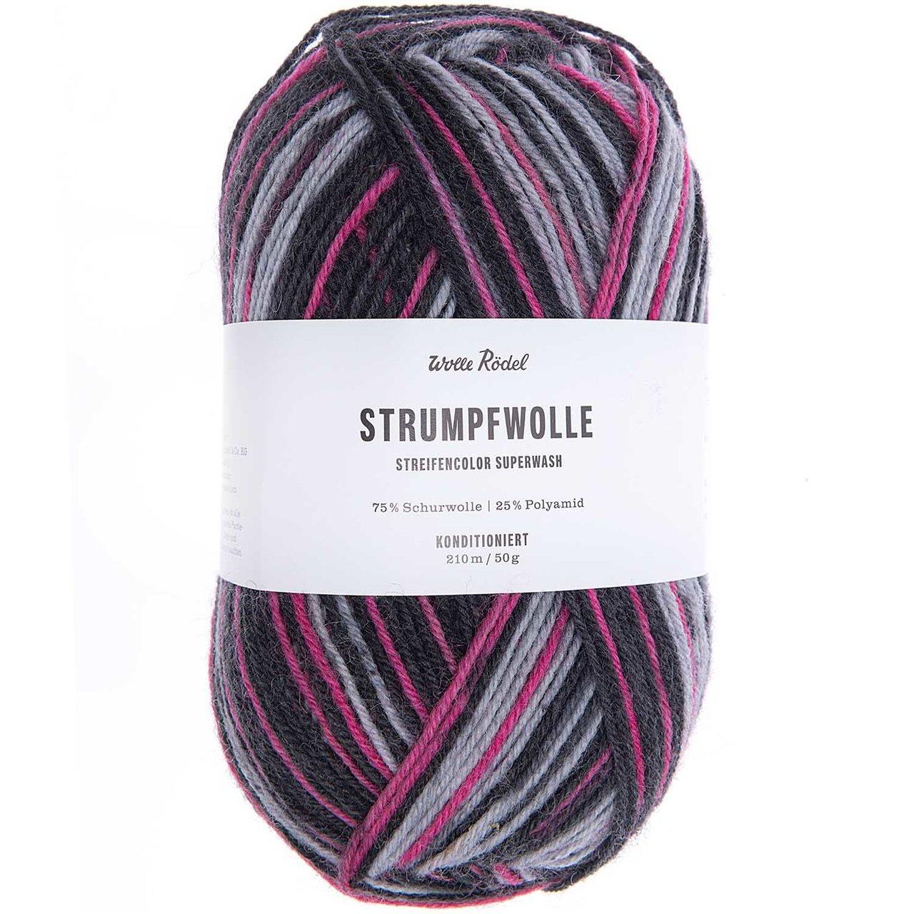 Wolle Rödel Strumpfwolle Streifencolor 50g 210m