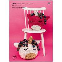 Rico Design Rico Häkelidee compact Nr. 757 Einhornkissen