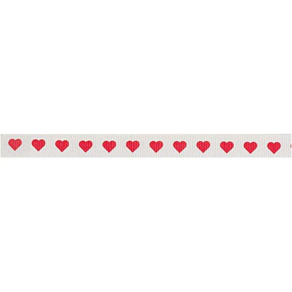 Rico Design Ribbon Herzen weiß 2m