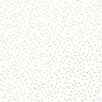 Rico Design Stoff Punkte weiß-gold 50x140cm