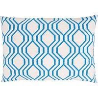 Rico Design Gobelin Kissen grafisch blau 50x35cm zum Sticken