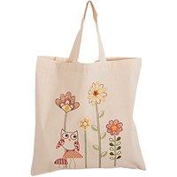 Rico Design Stickpackung Tasche Eule mit Pilzen 38x45cm