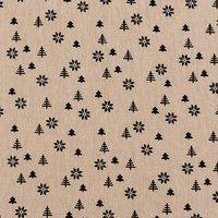 Rico Design Stoff Tanne natur-schwarz 50x140cm
