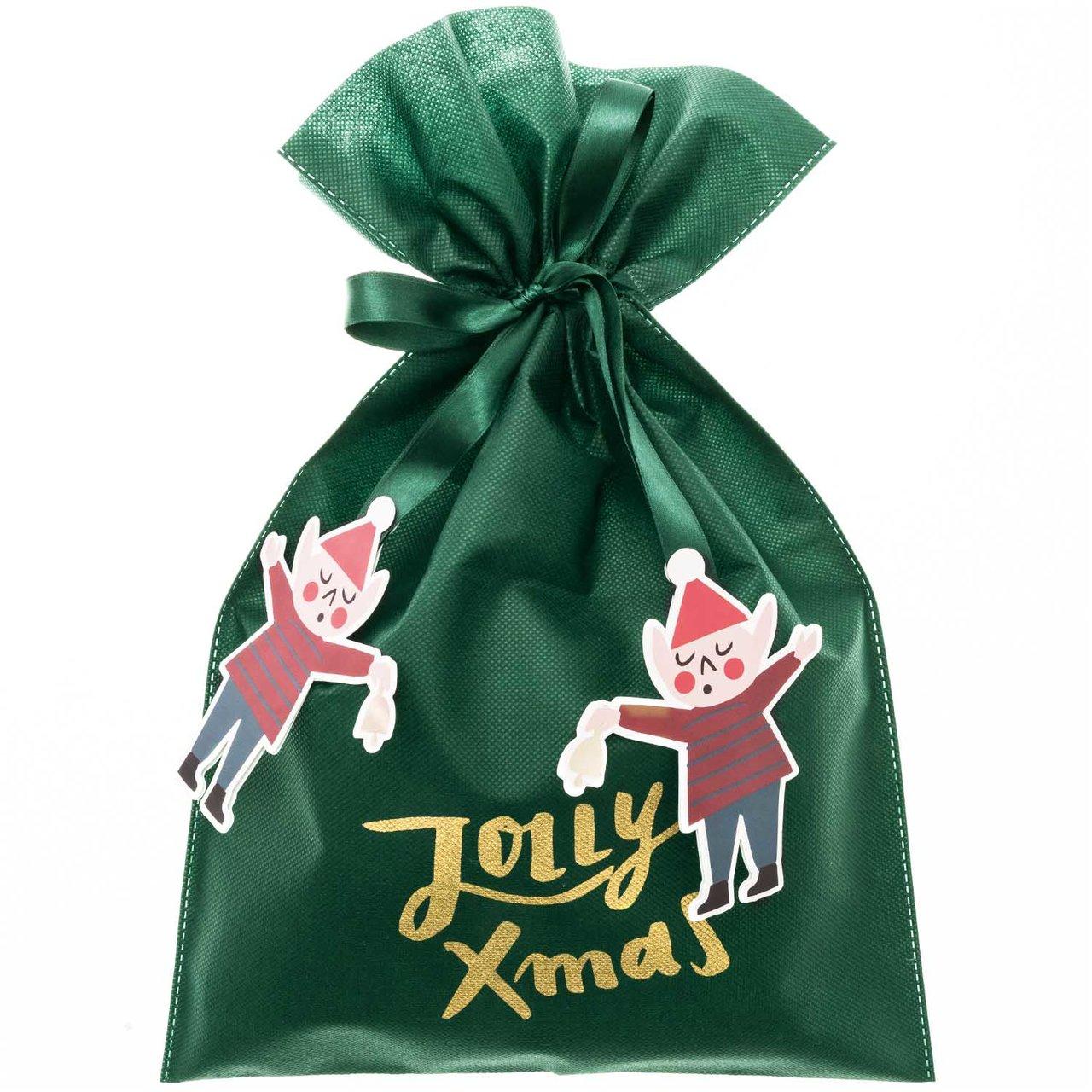 Paper Poetry Geschenktüte Jolly X-Mas grün 30x45cm