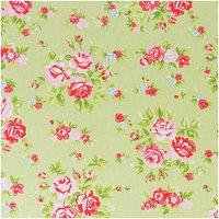 Rico Design Stoff Blumen grün-rosa 50x160cm