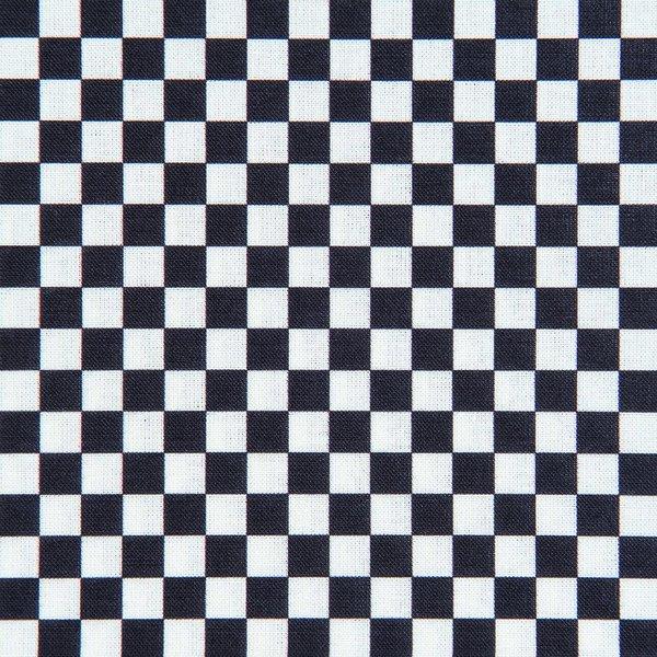 Rico Design Stoff Schachbrett schwarz 160cm