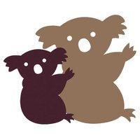 Rico Design Appliqué Koala mit Baby braun-beige 4x3,3cm