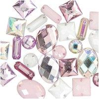 Jewellery Made by Me Aufnähsteine Mix mehrfarbig pastell 25 Stück