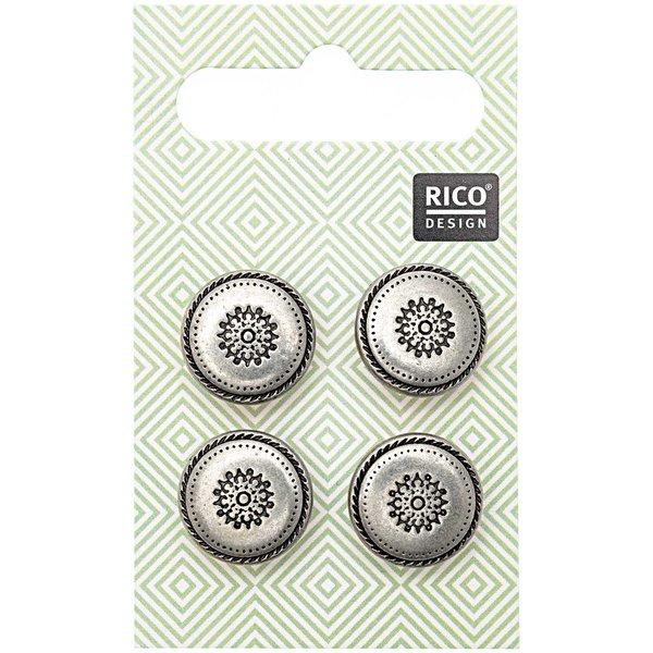 Rico Design Trachtenknöpfe Ornamente 1,5cm 4 Stück