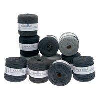 noodles Textilgarn Grautöne ca. 500-700g